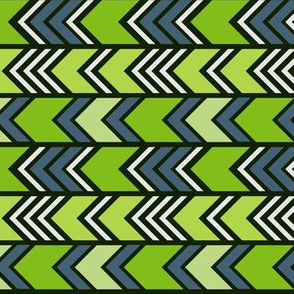 green zigzag arrows