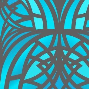 bright blue Art Deco xl