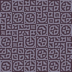 circles in squares in midsummer mauve - Turing pattern 6