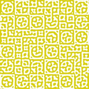 circles in squares in yellow - Turing pattern 6