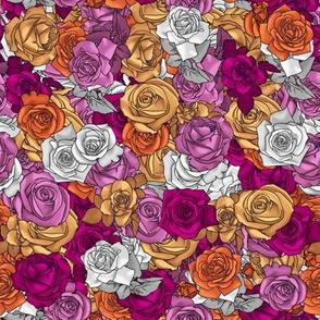 Lesbian Pride Roses