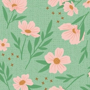 Pink Floral Frenzy - Large Scale