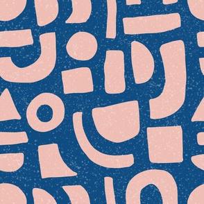 Blush Shapes  - Classic Blue