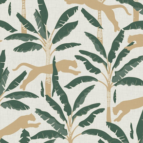 Tropical Wildlife Collection - Sage and Beige 01 / Large