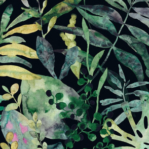 Jungle - moody tropical flora - large