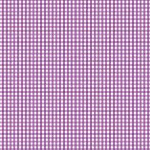 gingham ultra small grape purple