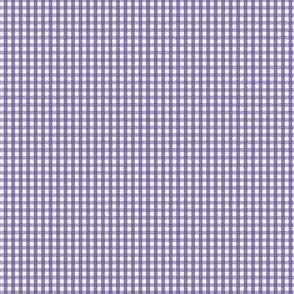 gingham ultra small purple