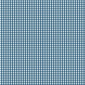 gingham ultra small navy blue
