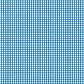 gingham ultra small royal blue