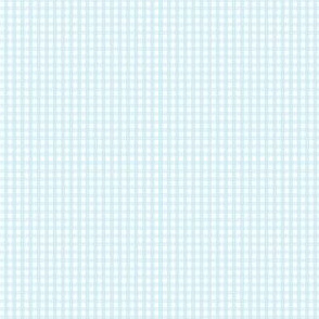 gingham ultra small ice blue