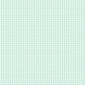 gingham ultra small mint green