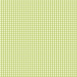 gingham ultra small lime green