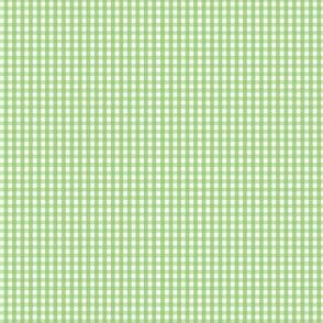 gingham ultra small apple green