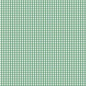 gingham ultra small kelly green