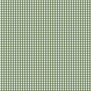 gingham ultra small hunter green