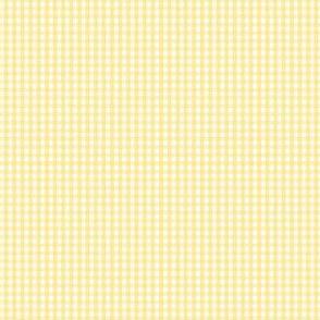 gingham ultra small sunshine yellow