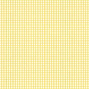 gingham ultra small butter yellow