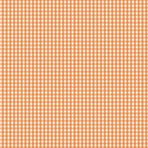 gingham ultra small orange
