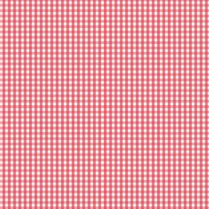 gingham ultra small bold coral