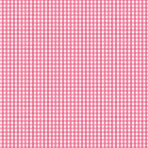 gingham ultra small hot pink