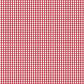 gingham ultra small red