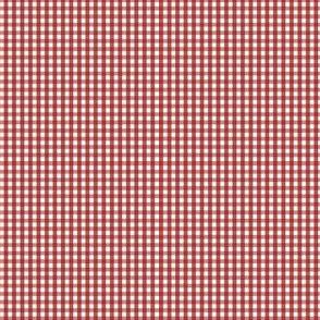 gingham ultra small dark red