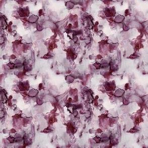 pomegranate watercolor: micro