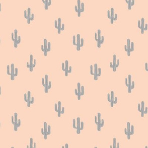 The minimalist boho garden cactus plants desert pattern baby neutral nursery gray beige sand