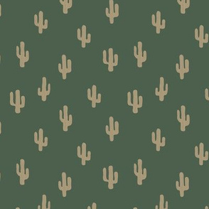 The minimalist boho garden cactus plants desert pattern baby neutral nursery emerald green beige