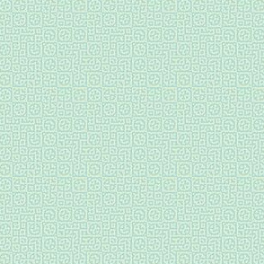 tiny circles in squares in mint - Turing pattern 6