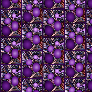 Irregular Circles Abstract 1 PURPLE PURPLE