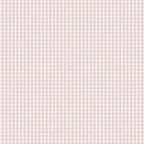 gingham ultra small dusty pink