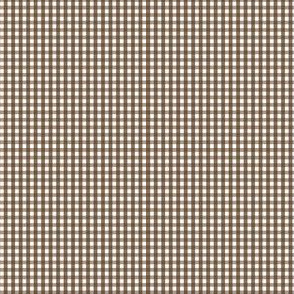 gingham ultra small brown