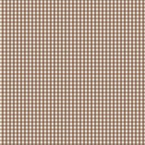 gingham ultra small chocolate brown