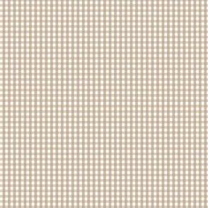 gingham ultra small tan