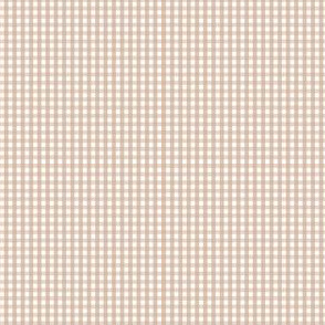 gingham ultra small toasted nut