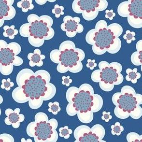 Retro Flower Blue