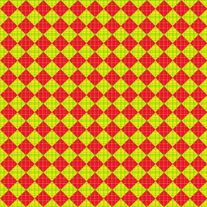 Checkered Plaid - pink and yellow