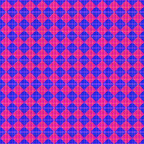Checkered Plaid - pink and blue
