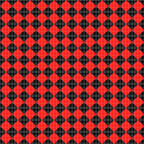 Checkered Plaid - red and black