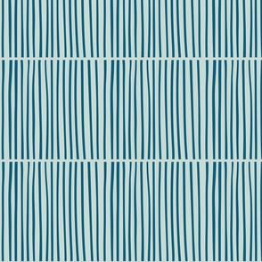 Split Stripe Aqua