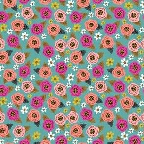 Teeny Teal Floral