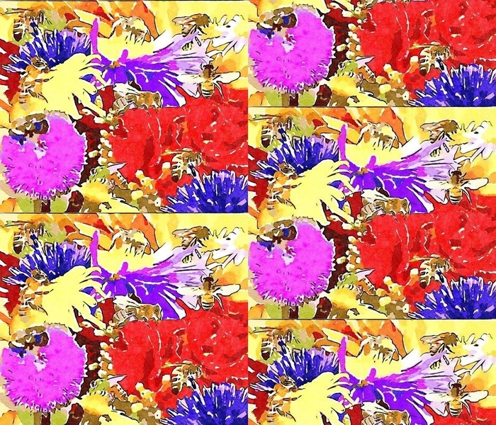Busy Bees Watercolor