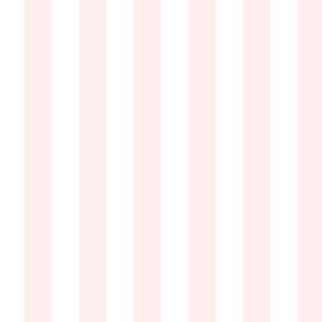 """1/2"""" Light Baby Pink and White Stripes - Vertical - 1/2 Inch / Half In / 1/2 In / 1/2in / 0.5 Inch"""