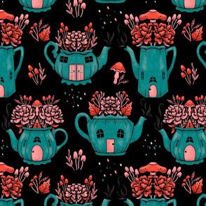 Lamb Illustration's Fairy Teapot Houses