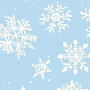 Large Snowflake Light blue Snow Holiday winter