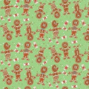 small gingerbread folks christmas cookies