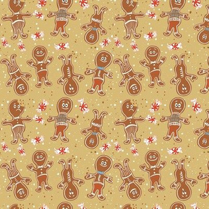 Small Gingerbread Folks Tan winter christmas cookies holiday