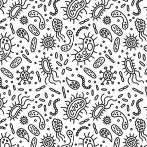 Microscopic Life Black on White