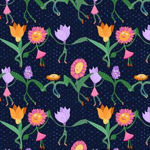 Dancing flowers - medium